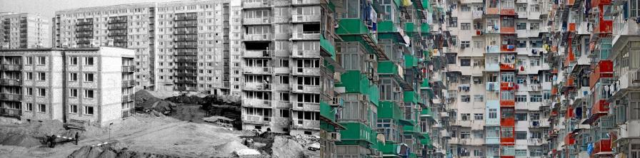 Bloki na Bemowie i w Hongkongu