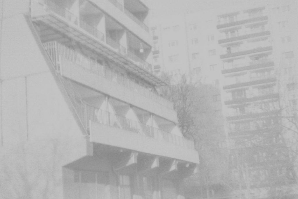 Brutalist prefabricated residential skyscraper - Krakow, Al. Kijowska