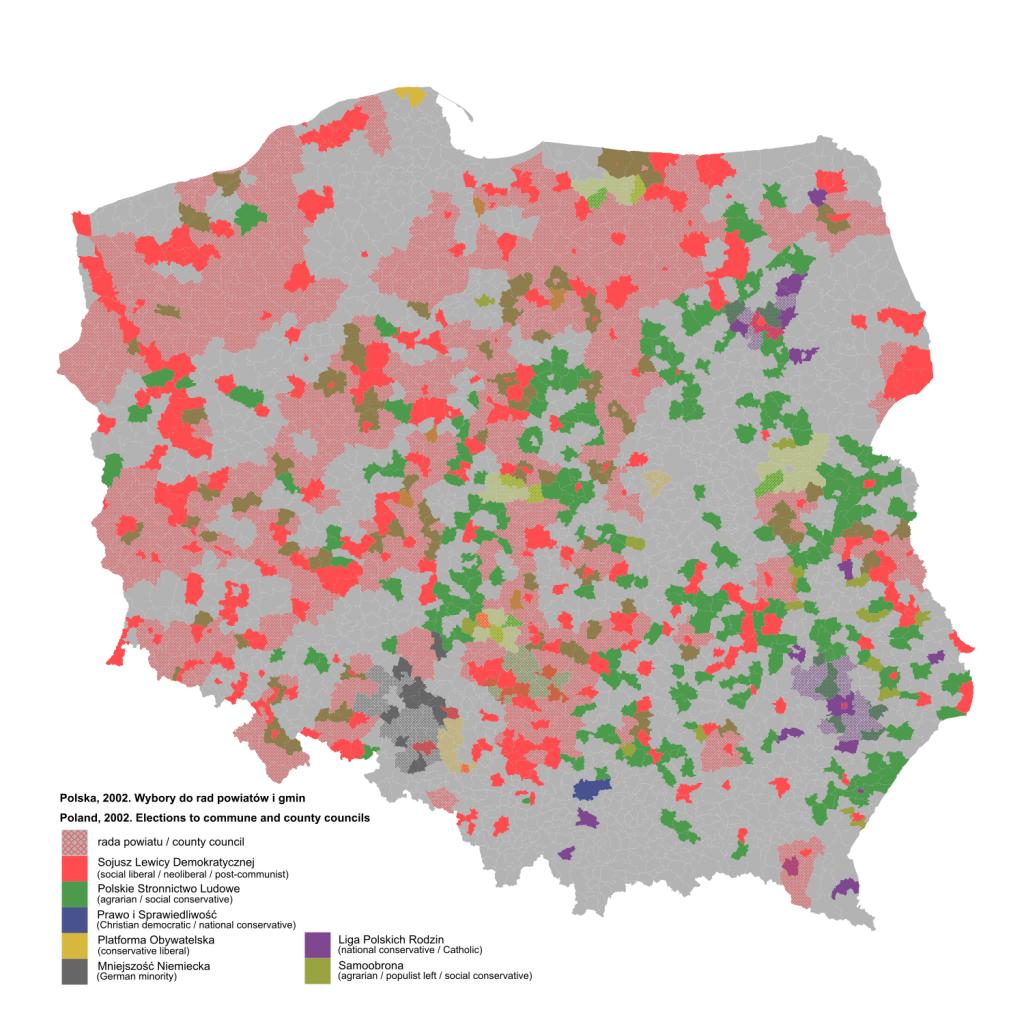 Wybory do rad powiatów i gmin z 2002